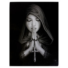 Gothic Prayer Canvas Print By Anne Stoke