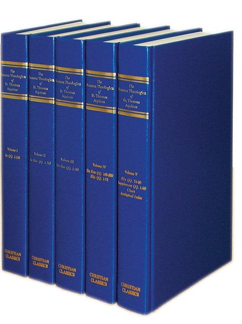 Summa Theologica, by St. Thomas Aquinas [5-Volume Set]