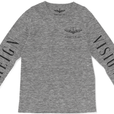 Grey Logo Long-Sleeve