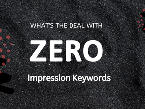Zero Impression Keywords on Amazon