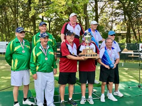 The 2019 Canadian National Senior Triples winners: Gold: Ontario (B), Silver: Quebec (A), Bronze: Saskatchewan