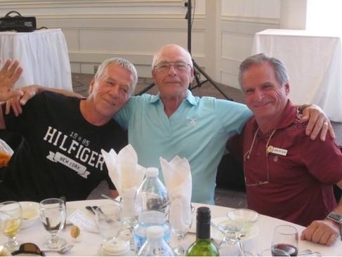 The 2019 Canadian National Senior Triples Silver medalists: Wayne Hossack, Gilles Cayer & Gilles De Serres