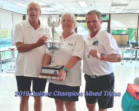The 2019 Quebec Federation Mixed triples Winners