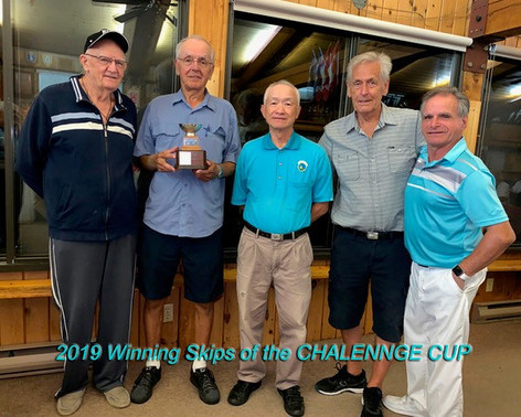 Winning skips from the 2019 Pointe-Claire Challenge Cup