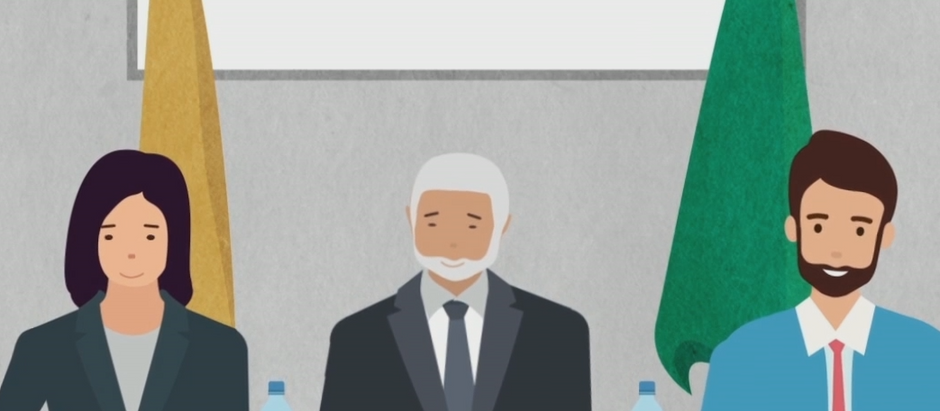 Migration and refugees animation