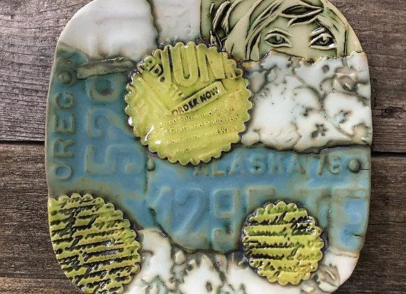 Peek-a-Boo Collage Plate