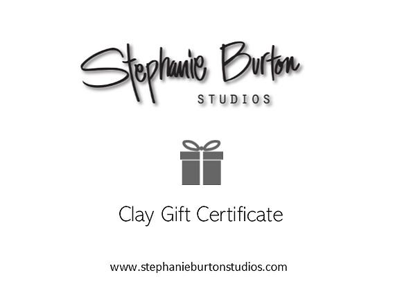 Gift Certificate (Clay & Glaze Class)