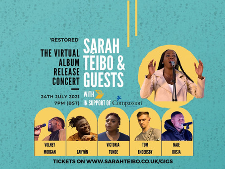 SARAH TÉIBO PARTNERS WITH ASTEPFWD AND COMPASSION UK IN ALBUM RELEASE CONCERT