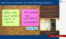 Are You A Leader Or Just Giving Orders?