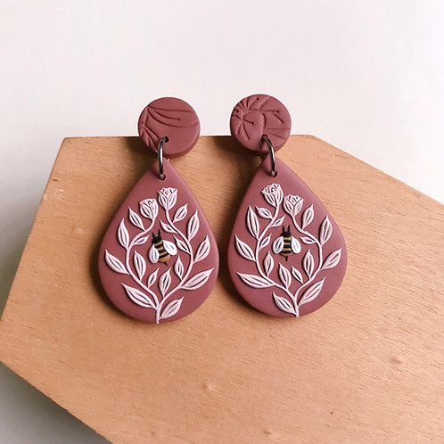 Polymer Clay Dangly Earrings Stainless Steel (2)
