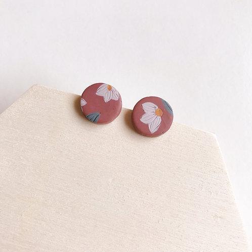 Polymer Clay Stud Earrings Stainless Steel