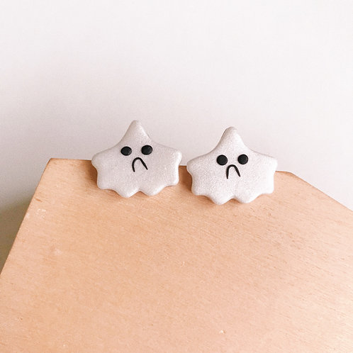 Halloween Ghost Studs #2 Polymer Clay