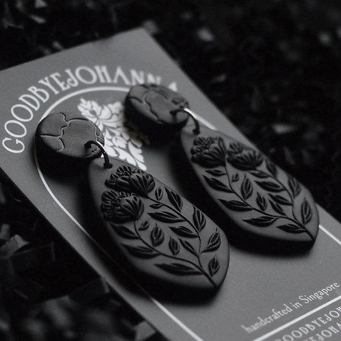 PREORDER Black Monochrome Earrings (4.8cm)