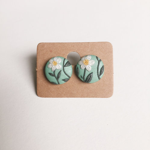 Polymer Clay Studs #2 Stainless Steel