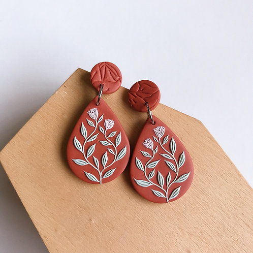 Autumn Collection Polymer Clay Earrings Stainless Steel (20)