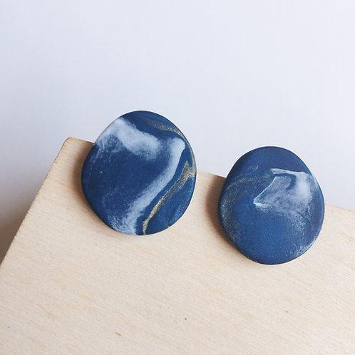 """""""Meri"""" Polymer Clay Stainless Steel Stud Earrings"""