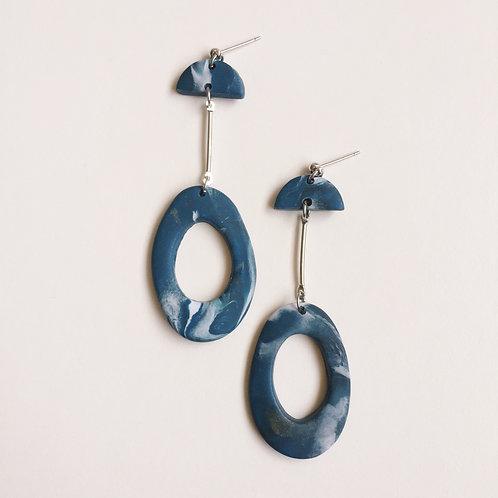 """""""Meri"""" Polymer Clay Dangly Earrings"""
