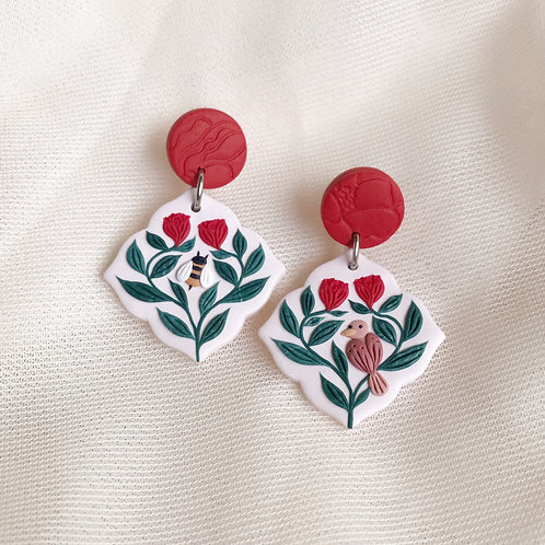 The Birds & the Bees Earrings 4.3cm