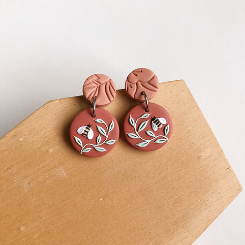 Autumn Collection Polymer Clay Earrings Stainless Steel (12)