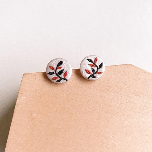 Halloween Polymer Clay Stud Earrings Stainless Steel 1.2cm