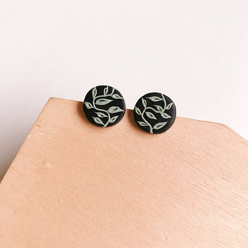 Halloween Mint #2 Circle Studs 1.2cm