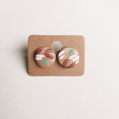 Polymer Clay Studs #7 Stainless Steel