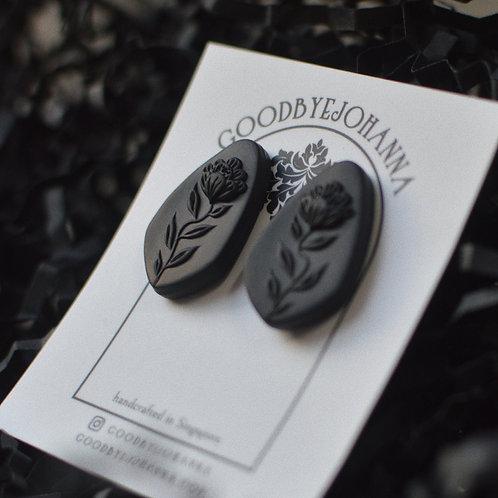 PREORDER Black Monochrome Stud Earrings (2.5cm)