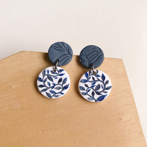 Polymer Clay Dangly Earrings Stainless Steel Small