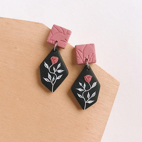 Polymer Clay Dangly Earrings Stainless Steel 1