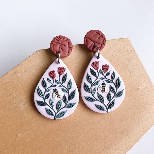 Autumn Collection Polymer Clay Earrings Stainless Steel (2)