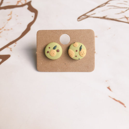 Polymer Clay Circle Studs Stainless Steel