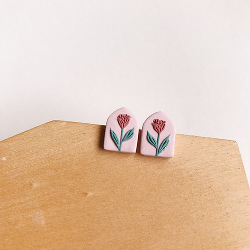 Mixed Restock Polymer Clay Stud Earrings Stainless Steel (4)