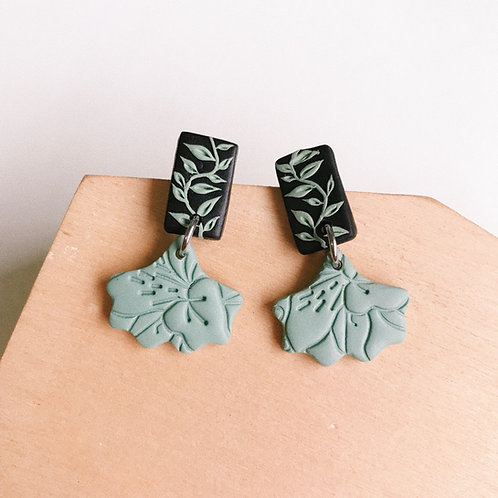 Halloween (Mint #2) Polymer Clay Earrings