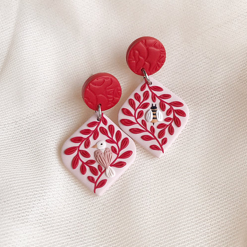 The Birds & the Bees Earrings Large 4.3cm