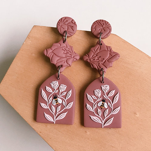 Polymer Clay Dangly Earrings Stainless Steel (6)