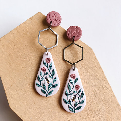 Autumn Collection Polymer Clay Earrings Stainless Steel (9)