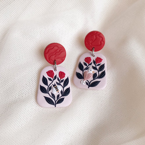 The Birds & the Bees Earrings 3.9cm
