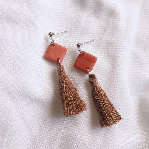 Polymer Clay Dangle Earrings Tassel