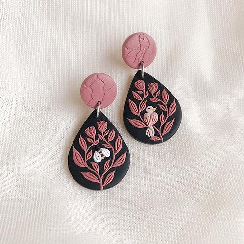 The Birds & the Bees Teardrop Earrings 4.3cm