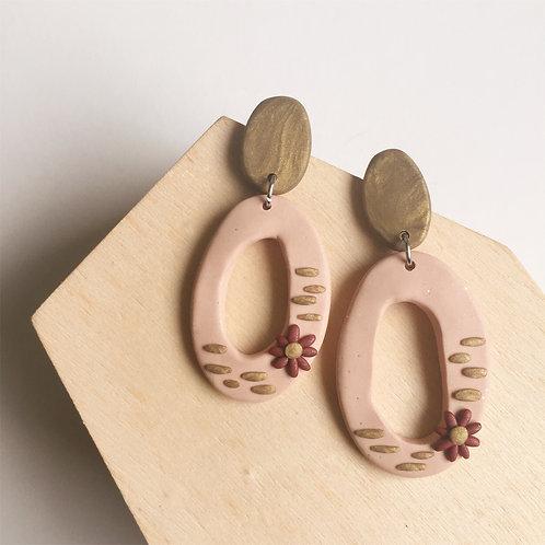 Polymer Clay Handmade Dangly Earrings