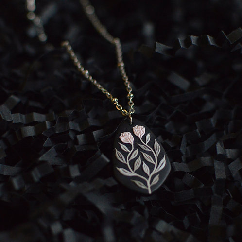 Made to Order: Mini Rose Necklace Stainless Steel (2.5cm)