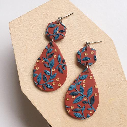 """Bridges"" Polymer Clay Dangly Earrings"