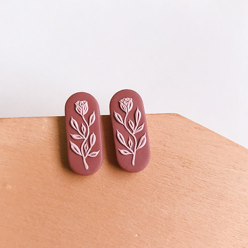 Polymer Clay Stud Earrings Stainless Steel (8)