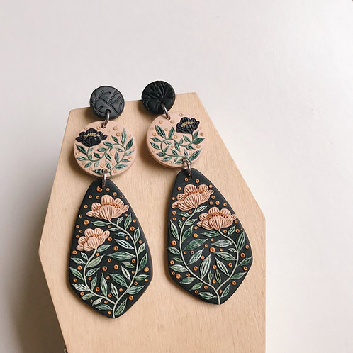 #1 Polymer Clay Dangly Earrings Stainless Steel