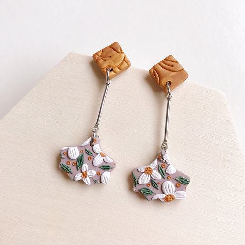 Polymer Clay Dangly Earrings Stainless Steel Drop