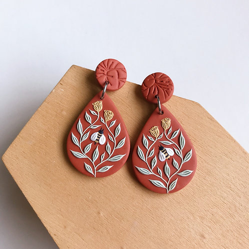 Autumn Collection Polymer Clay Earrings Stainless Steel (15)