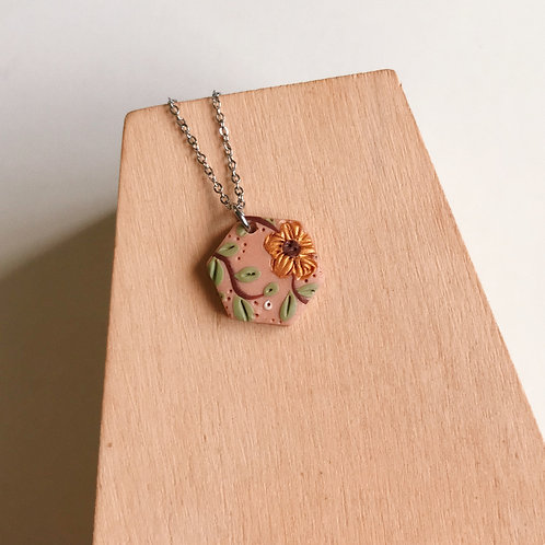 Polymer Clay Short Necklace