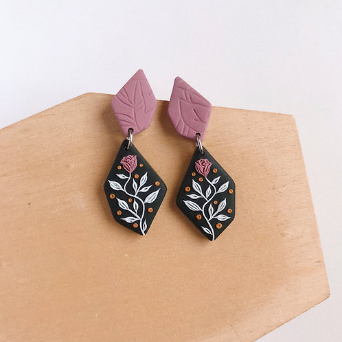 Polymer Clay Dangly Earrings Stainless Steel 4
