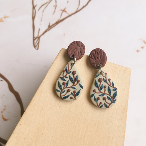"""Charlotte"" Polymer Clay Tiny Dangly Earrings Stainless Steel"