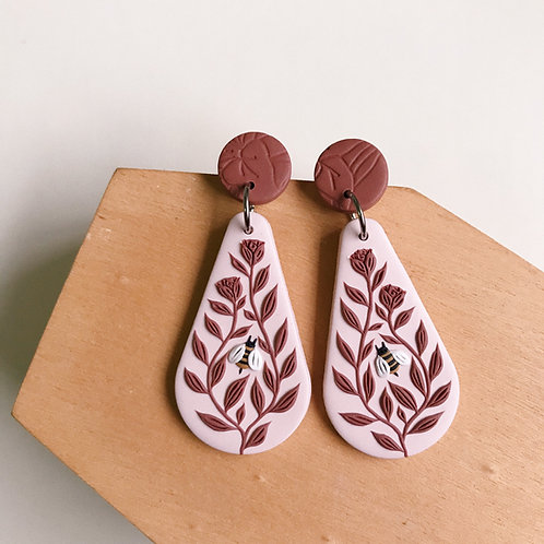 Polymer Clay Dangly Earrings Stainless Steel  (14)